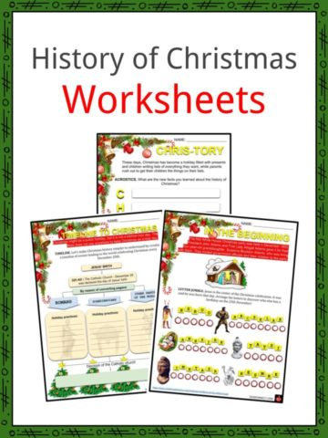 History of Christmas Worksheets