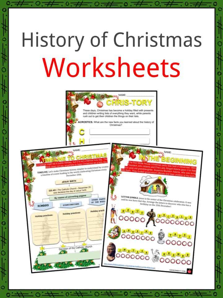 history of christmas facts worksheets celebrations modern day kids. Black Bedroom Furniture Sets. Home Design Ideas
