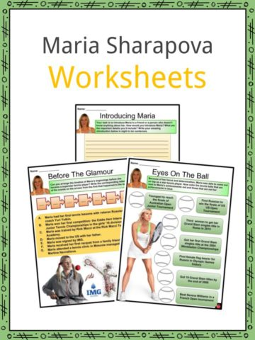 Maria Sharapova Worksheets