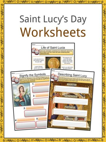 Saint Lucy's Day Worksheets