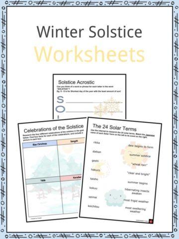 Winter Solstice Wokrsheets