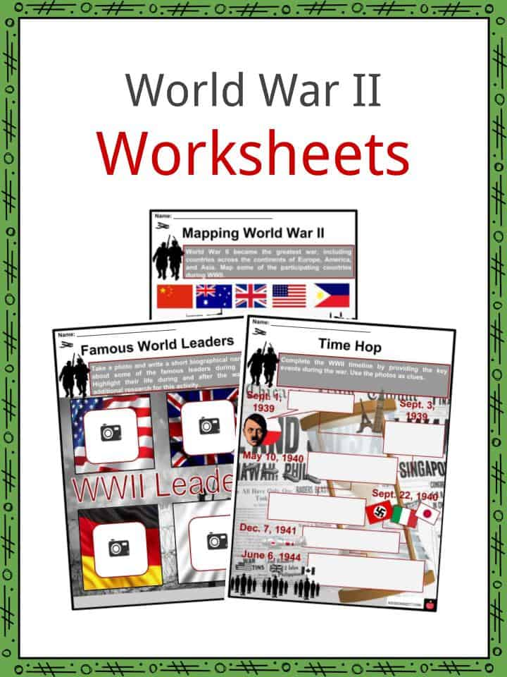 World War II (WW2) Facts, Worksheets, Deaths, History, Outcome For Kids