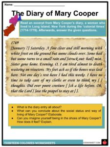 Complete List Of Included Worksheets 13 Colonies Facts