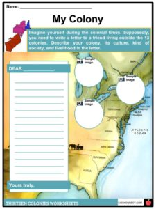 13 (Thirteen Original) Colonies Facts, Information & Worksheets for on