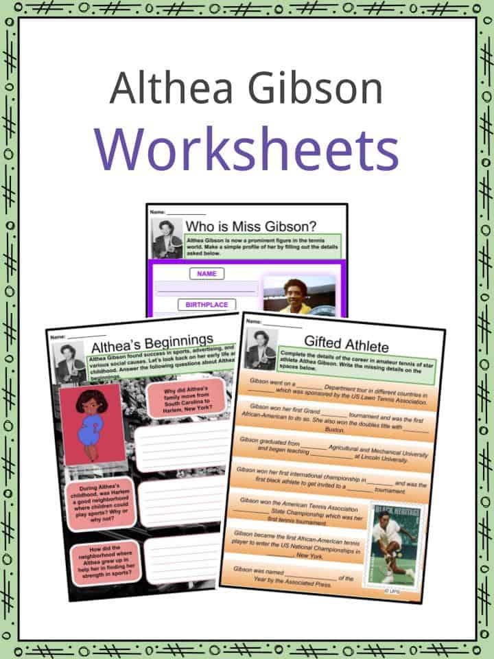 Althea Gibson Worksheets