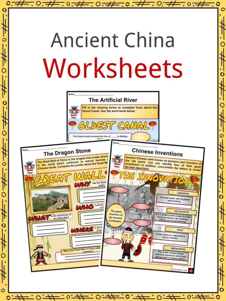 Ancient China Facts, Worksheets, Innovation, Geography