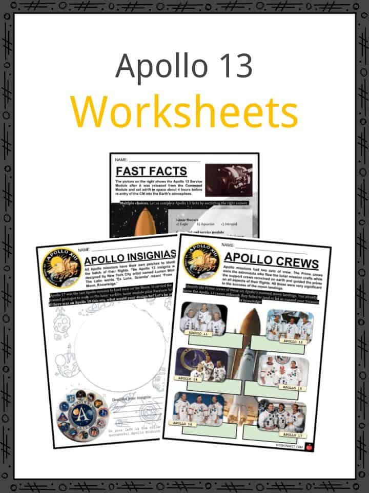 Apollo 13 Worksheets