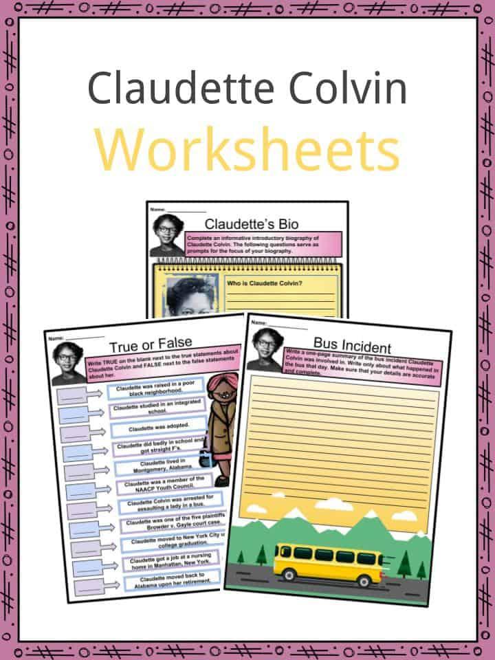 Claudette Colvin Worksheets