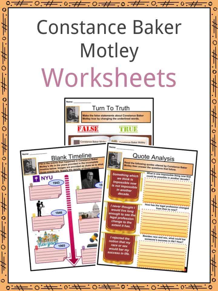 Constance Baker Motley Worksheets