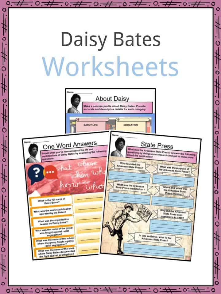 Daisy Bates Worksheets