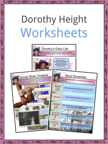 Dorothy Height Worksheets