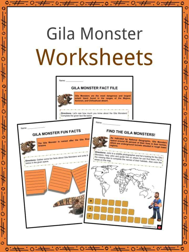 Gila Monster Worksheets