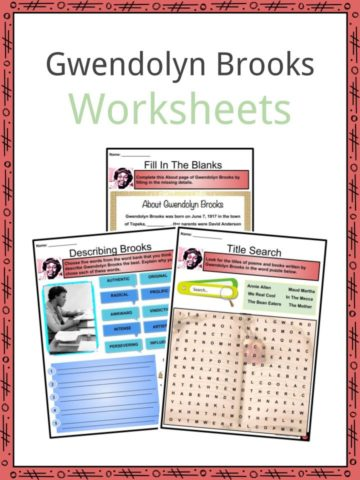 Gwendolyn Brooks Worksheets