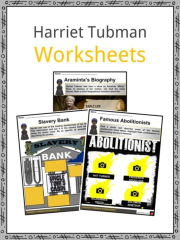 Harriet Tubman Worksheets