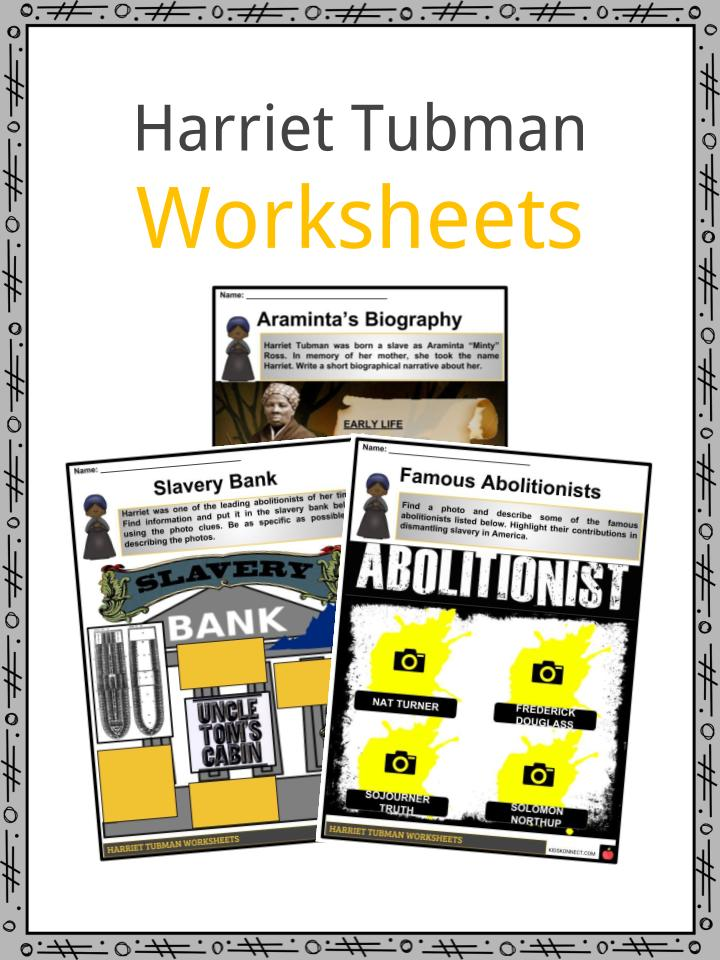 graphic regarding Harriet Tubman Printable Worksheets identified as Harriet Tubman Details, Worksheets, Content material Biography
