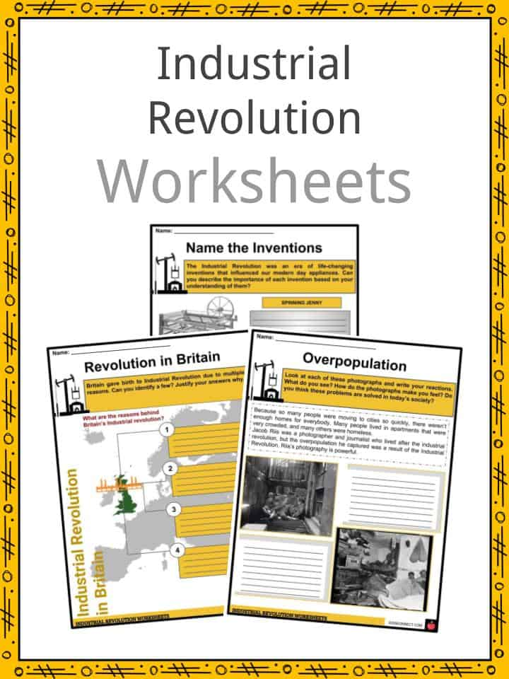 Industrial Revolution Facts Worksheets Inventions