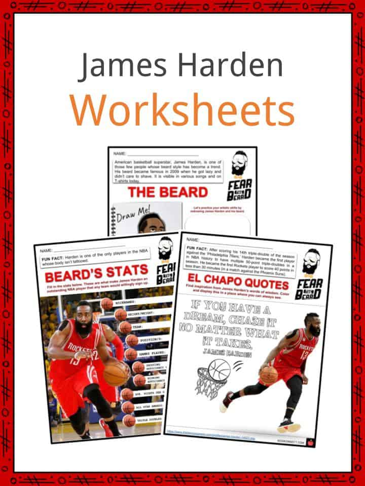 James Harden Facts Worksheets Career Achievements