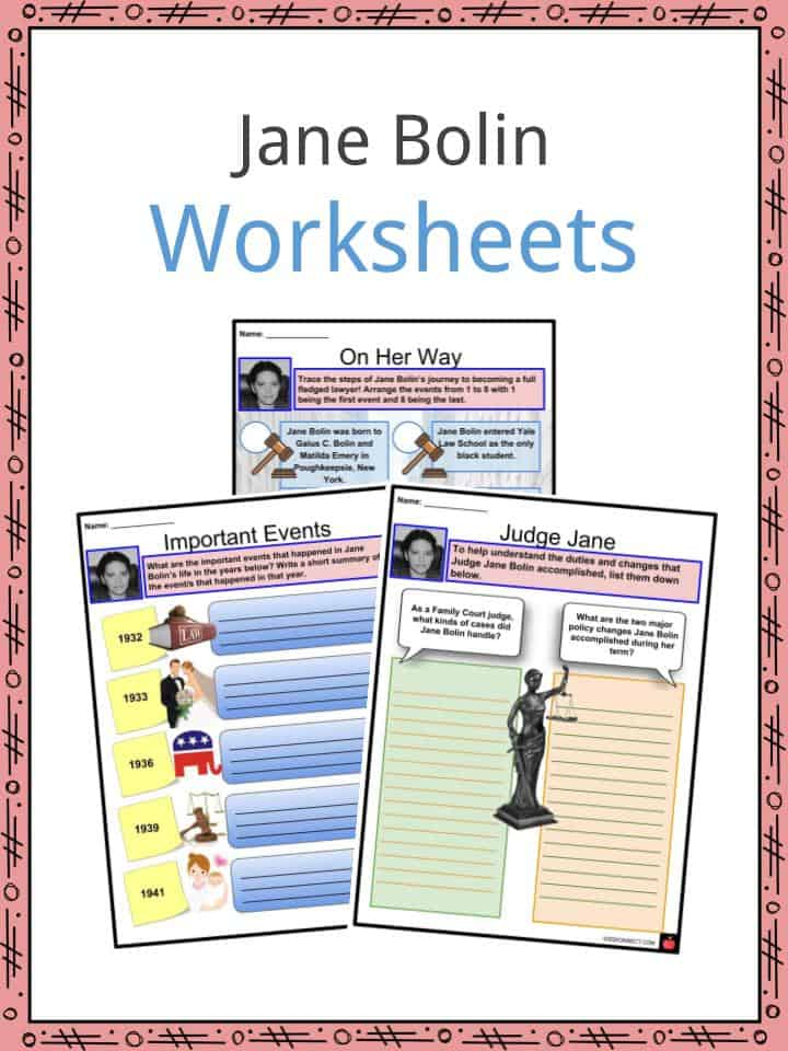Jane Bolin Worksheets