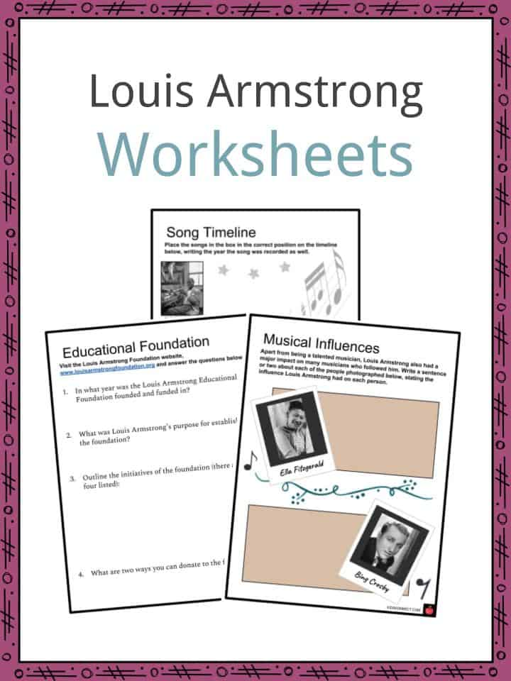 Louis Armstrong Worksheets