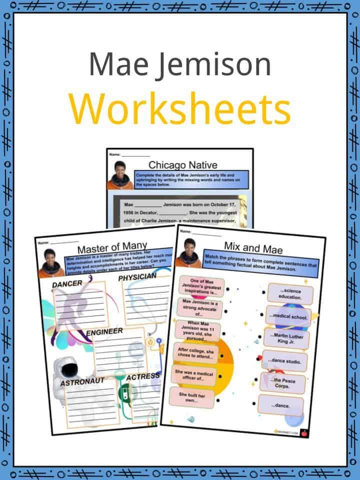 Mae Jemison Worksheets