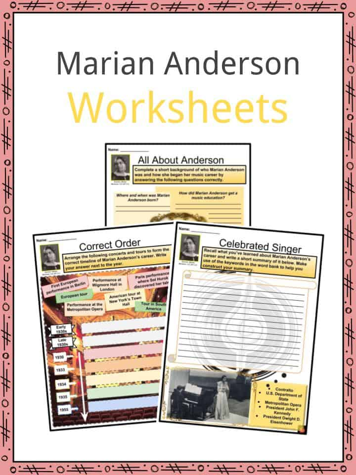 Marian Anderson Worksheets