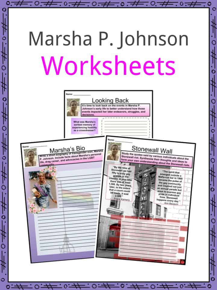 Marsha P. Johnson Worksheets