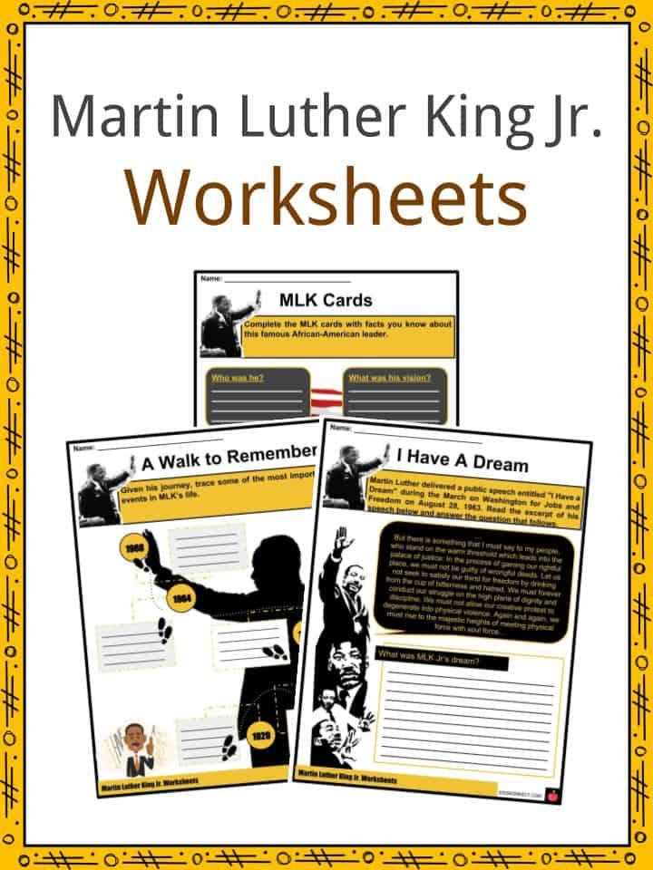 Martin Luther King Jr Facts, Worksheets, Activism, History ...