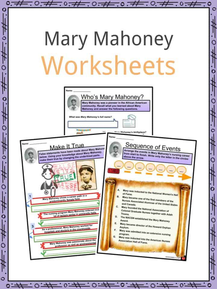 Mary Mahoney Worksheets