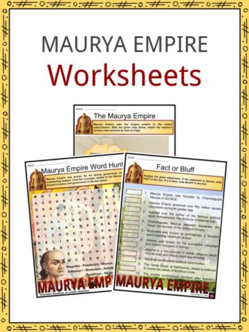 Maurya Empire Worksheets