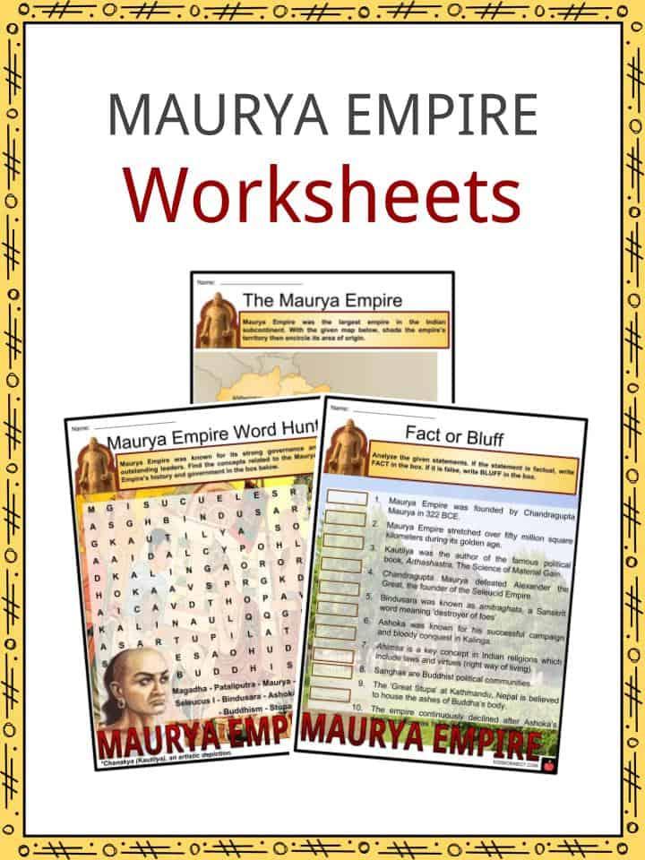 Maurya Empire Worksheets