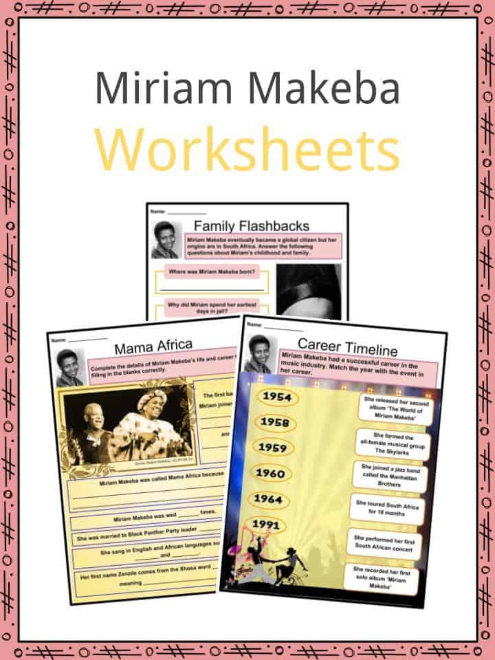 Miriam Makeba Worksheets