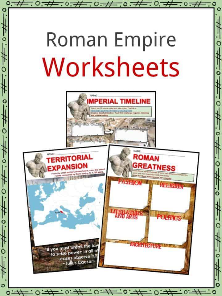 Roman Empire Worksheets
