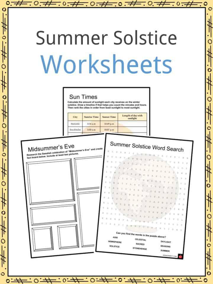 Summer Solstice Worksheets