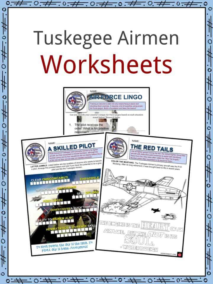 Tuskegee Airmen Worksheets