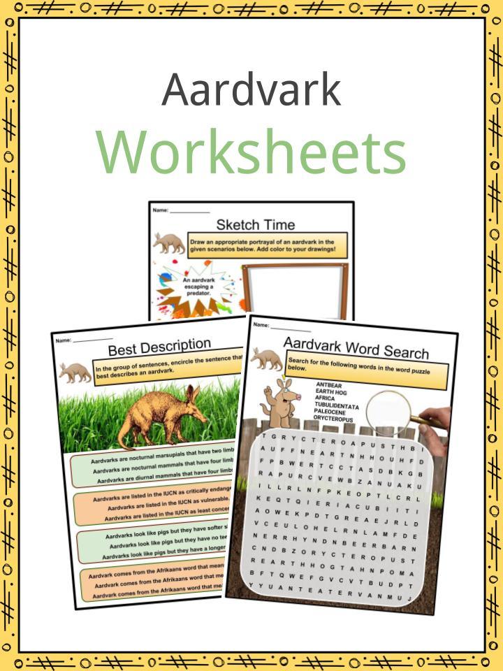 Aardvark Worksheets