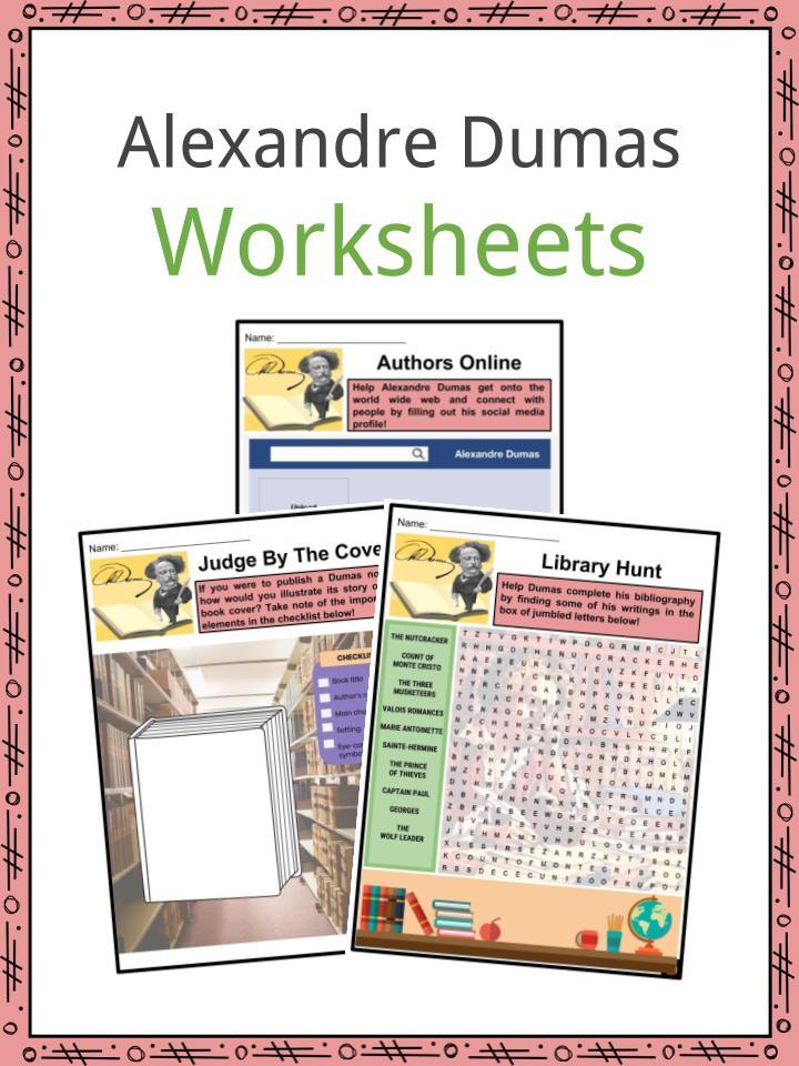 Alexandre Dumas Worksheets