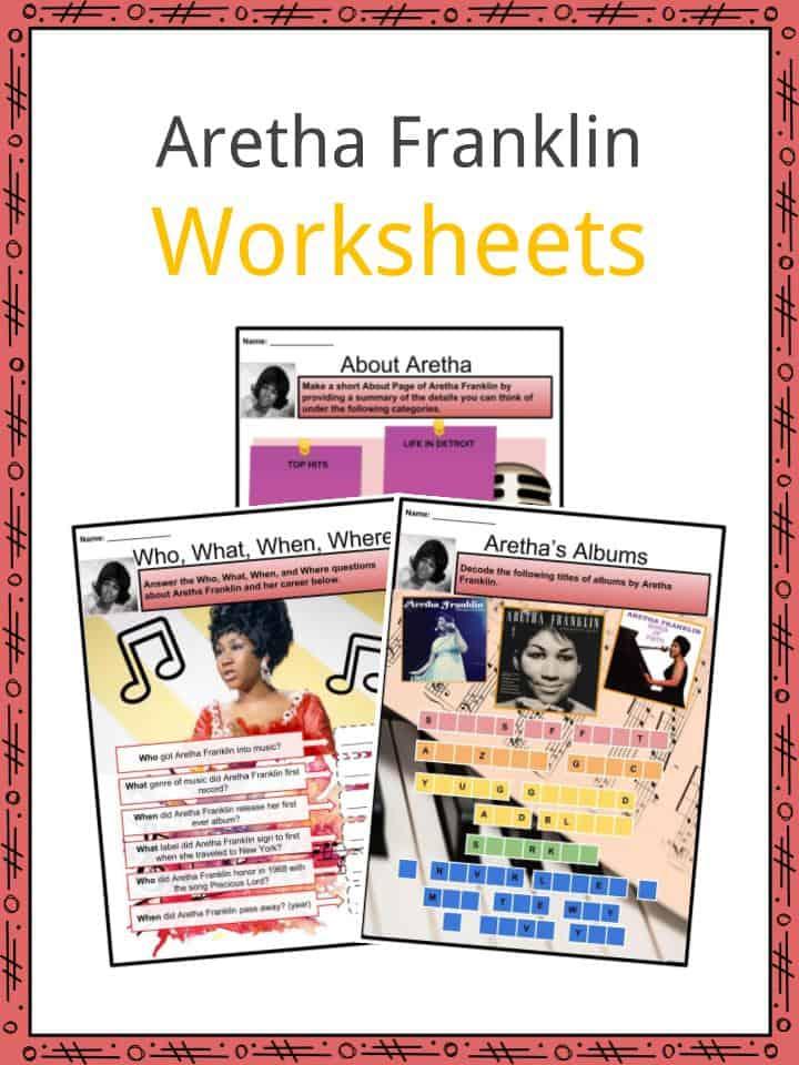 Aretha Franklin Worksheets