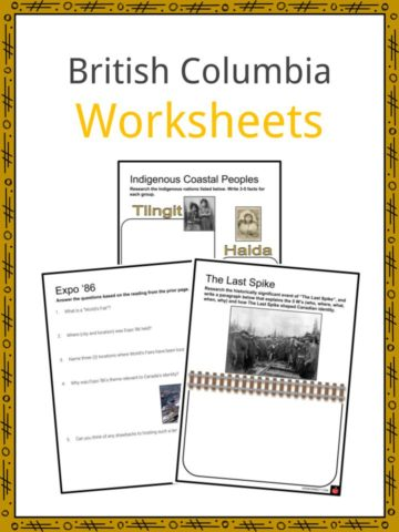 British Columbia Worksheets