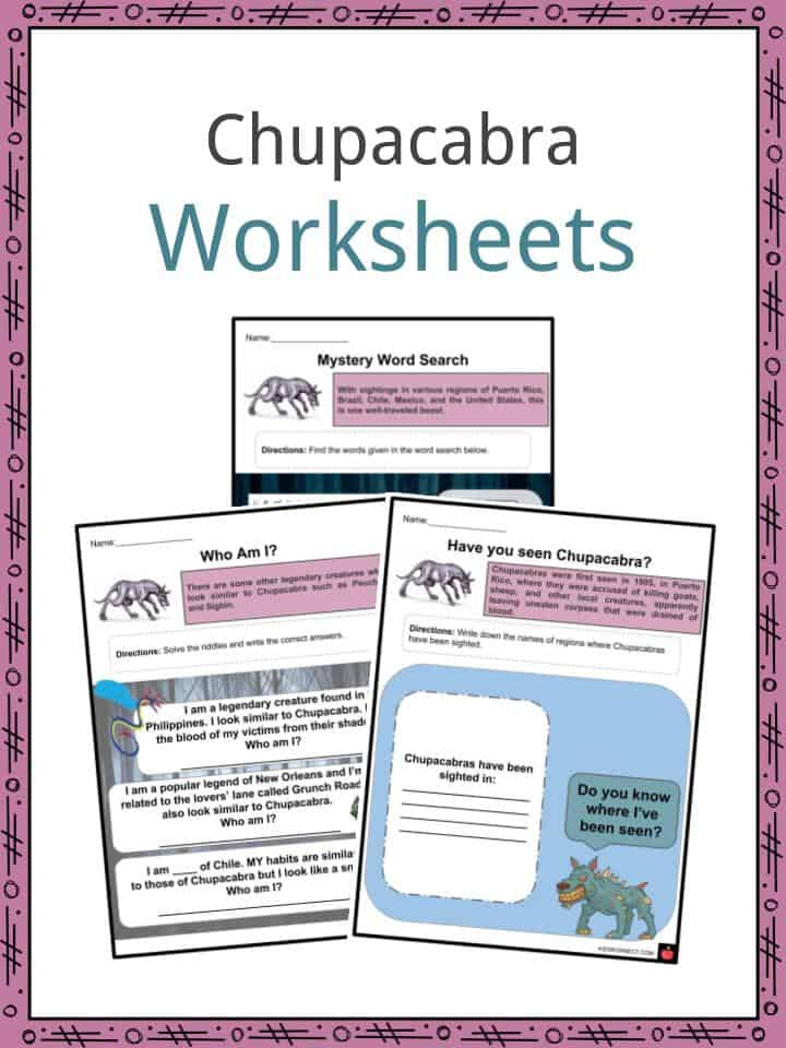 Chupacabra Worksheets