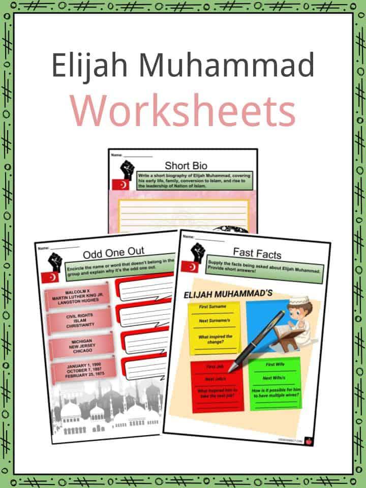 Elijah Muhammad Worksheets