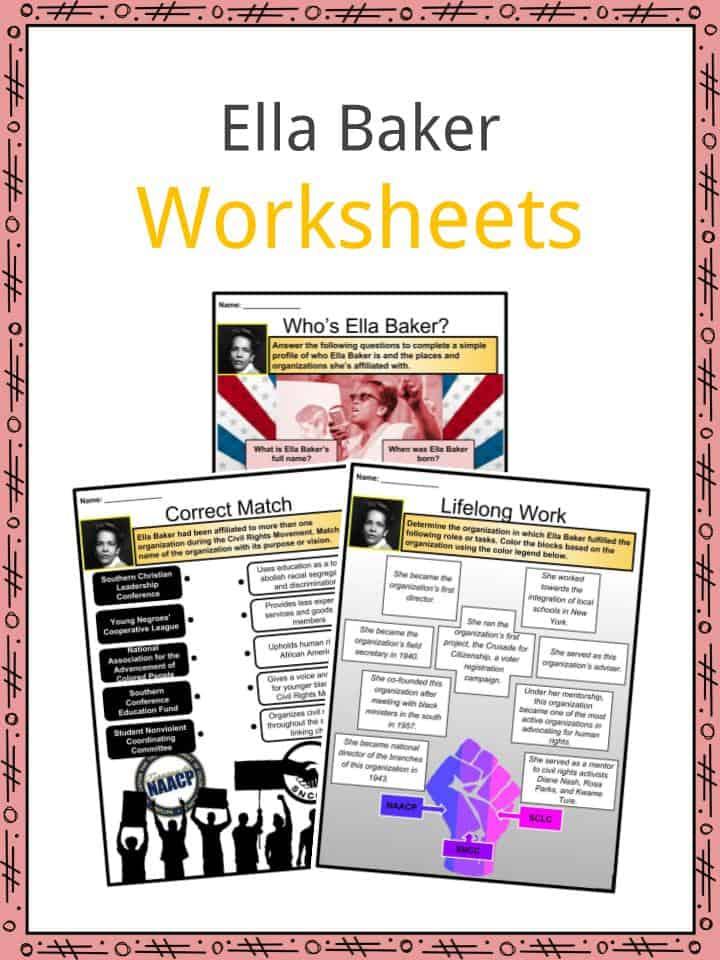 Ella Baker Worksheets