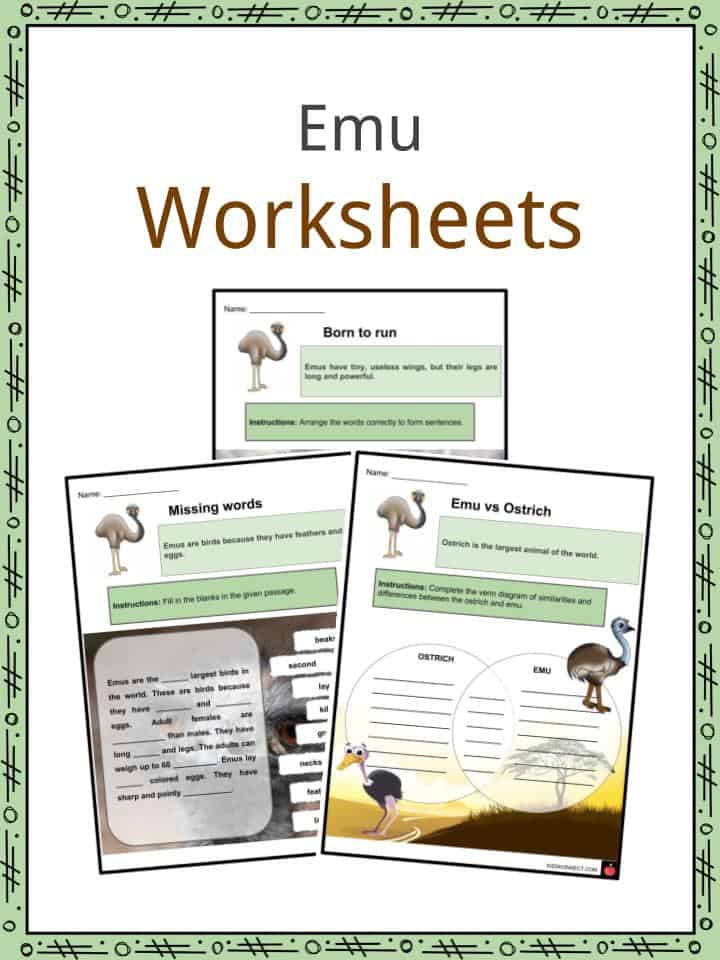 Emu Worksheets