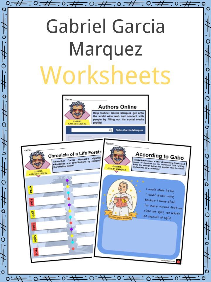 Gabriel Garcia Marquez Worksheets