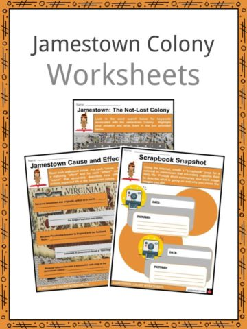 Jamestown Colony Worksheets