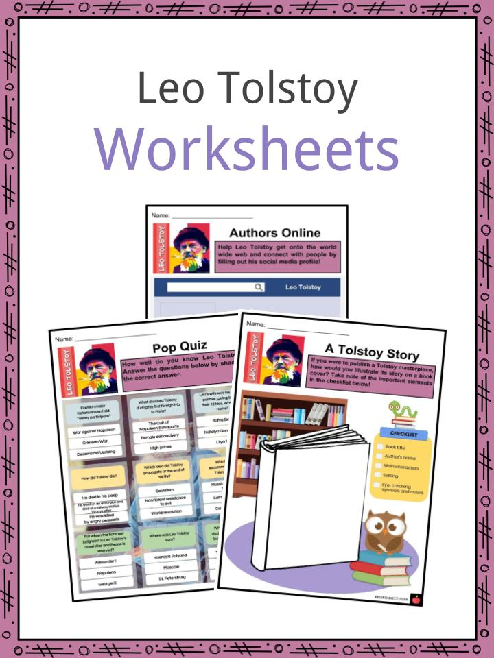 Leo Tolstoy Worksheets