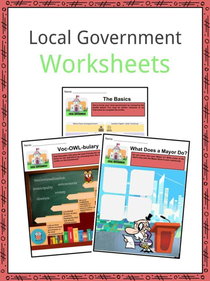 Local Government Facts Worksheets Structure