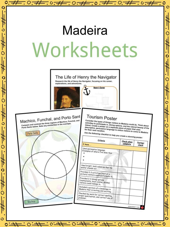 Madeira Worksheets