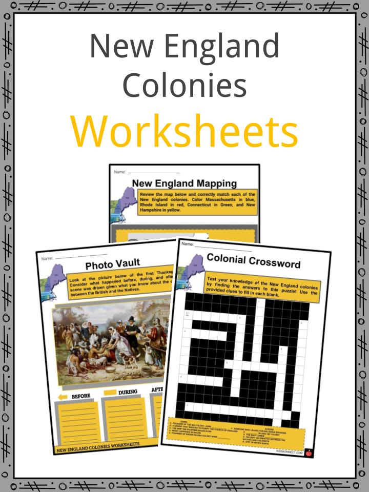 New England Colonies Worksheets