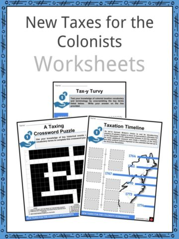 New Taxes for the Colonists Worksheet