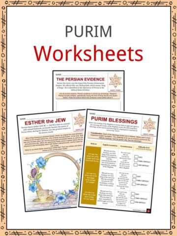 PURIM Worksheets
